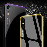 Tempered Glass Phone Case For iPhone Xs Max XR X 7 8 Cover Luxury TPU Hard Cases