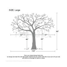 Giant Photo Tree Wall decal Family Photo tree wall sticker White Special Price
