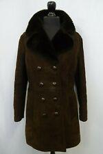 Women's Brown Sheepskin Shearling Coat Size 14