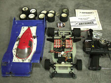 Vintage Team Associated RC10L Pan Car with Radio and Extras Nissan GTP body.