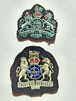 WWII Canadian Patches: Pair (2) Military Army World War 2