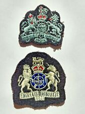 Patches: Pair (2) WWII Canadian Military Army World War 2