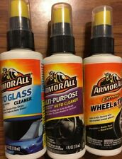 3 Bottles Of Armor All Auto Cleaner Detail. 4oz Glass, Wheel Tire, Multi Purpose