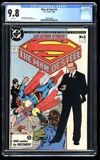 Man of Steel #4 CGC NM/M 9.8 White Pages
