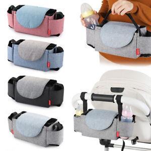 Carriage Diaper Bag Baby Stroller Feeding Bottle Bag Infant Pushchair Nappy Bag