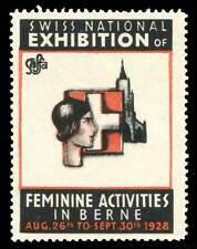 Switzerland Poster Stamp - 1928 Bern - Saffa - Womens' Exh. - Type 2, English