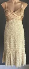 NWT Gold Layered Lace QUEENSPARK Dress Size 10 - Parties/Formals/Cocktails