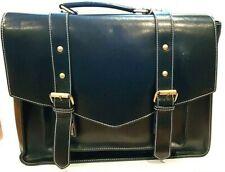 """Messenger Bag PU Leather Laptop Briefcase 14"""" Computer Shoulder Satchel - Black"""