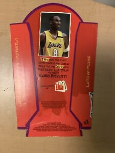 Rare 2003 Kobe Bryant McDonalds Super Size French Fries Package Lakers