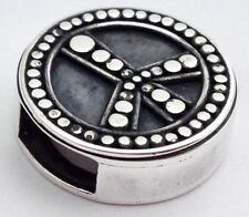 Authentic Lori Bonn Bons 925 Silver Hippie Chick Slide Charm 29922, New