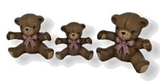 Teddy Bears Ceramic Baby Girl Cake Topper Twins Mom Daughters Bows Sisters Hug