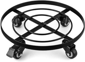"""Amagabeli 14"""" Metal Plant Caddy Heavy Duty Iron Potted Plant Stand With Wheels R"""