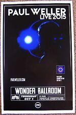 Paul Weller 2015 Gig Poster Portland Oregon Concert The Jam