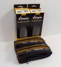 Two (2) Vittoria Rubino Pro III Bicycle Tires, Honey/Black, 700x23c, Brand New
