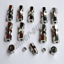 10x Bremsleitungsverbinder für Bremsleitung  4,75mm ohne zu bördeln Verbinder Qu