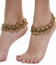 Bollywood Style Indian Gold Plated Payal Payal Chain Anklet Bridal Wedding Set