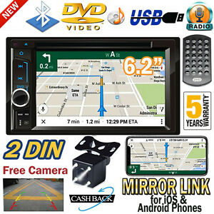"""6.2"""" Double 2Din Car CD DVD Player Radio Stereo MP3 AUX USB bluetooth & Camera"""