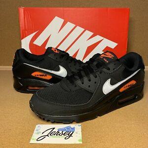Nike Air Max 90 Total Orange Size 11 Black / Silver DJ6881-001