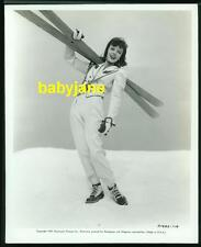 IDA LUPINO VINTAGE 8X10 PHOTO 1939 PARAMOUNT W/ SKIS AND WEARING SKI OUTFIT