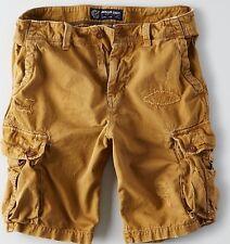AMERICAN EAGLE Destroyed Classic Fit Cargo Shorts Men's Tour Khaki  Size 40