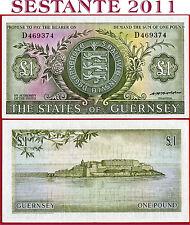 (com) GUERNSEY -  1 POUND nd 1969/75 - Sign Hodder  -  P 45b  - XF
