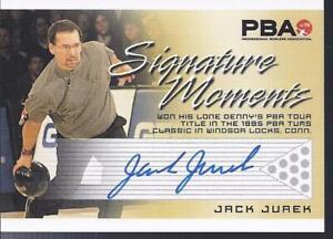 2008 PBA Bowling Autograph Signature Moments Jack Jurek
