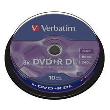 CD, DVD e Blu-Ray vergini Verbatim per l'archiviazione di dati informatici 8x