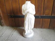 Ancienne bouteille bocal à bonbon opaline statue Jeanne d'Arc bonbons Tavernier