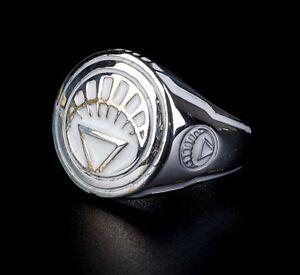 White Lantern Ring  Sinestro Corps Power Ring White Enamel 925 Sterling Silver