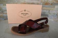 PRADA Gr 37 Sandalen sandals Schuhe shoes 1X082E purpur rot purple NEU UVP 450 €