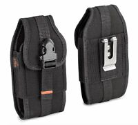 Black AGOZ HeavyDuty Rugged Belt Clip Loop Pouch Holster for Motorola Phones