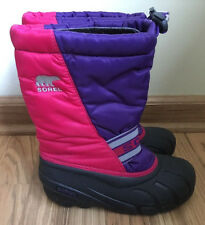 Sorel Snow Winter Boots Girl Youth 3 Eur 34 Rose Brilliant -  NY1799-600