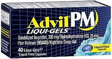 Advil PM Pain Reliever/Nighttime Sleep-Aid Liqui-Gels- 40 ct, Pack of 3