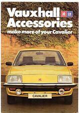 VAUXHALL CAVALIER mk1 accessori 1976-78 UK Opuscolo Vendite sul mercato Saloon Coupe
