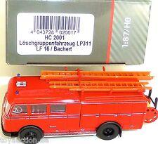 veicolo antincendio LP311 LF16 Bachert Pompieri HEICO HC 2001 H0 1:87 NUOVO µ
