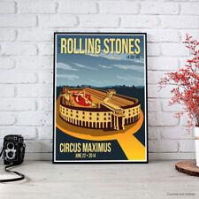 POSTER Rolling Stones - ROMA Circo Massimo 22 Giugno 2014 Locandina Fine Art HD