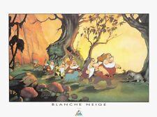 Affiche Offset Blanche Neige Les 7 nains, Disney Démons et Merveilles