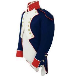 New Blue Napoleonic Uniform reproduction british Jacket Coat Expedited Shipping