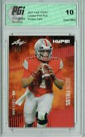 Justin Fields 2021 Leaf HYPE! #50 Red SP, Only 5 Made Rookie Card PGI 10