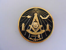 "Masonic -  Blue Lodge ""Past Master"" Zinc Car Emblem 2"" Black (PSC072B) *"