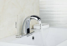 Automatic Electronic Hands Free Mixer Sensor Tap Faucet 4 Bathroom Basin Mixer
