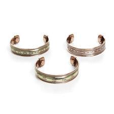 "Set Of 3 Magnetic Copper Bracelets 6"" long: US Seller New"