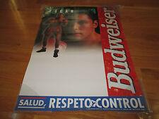 """1999 OSCAR DE LA HOYA """"Salud, Respeto Y Control"""" BUDWEISER 19 x 26.5 Poster"""