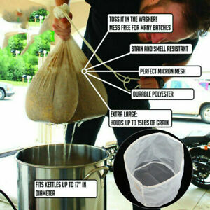 Strainer Food Special Coffee Filter Cheese cloth Nut Milk Bag Nylon Fine Mesh#✅