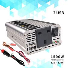 1500W peak converter power inverter DC 12V to AC 220V 230V 240V invertor USB