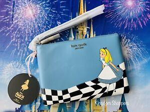 2021 Disney Parks x Kate Spade Alice In Wonderland Large Pouch Wristlet