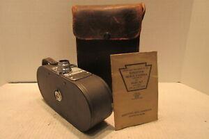 Keystone Model A-7 16mm Movie Camera with Operation Booklet & Case Cine Raptar