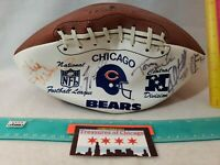 Vintage Chicago Bears Hutch Full Size ADULT Football UNKNOWN AUTOGRAPHS USA NFL