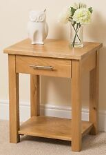 2x Solid Oak Wood 2 Drawer Bedside Side End Table Bedroom Furniture Whg1#108