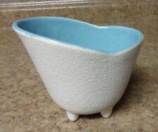 Vintage 1950s McCoy USA Pottery Planter Vase CAPRI Line matt White Aqua Blue 202